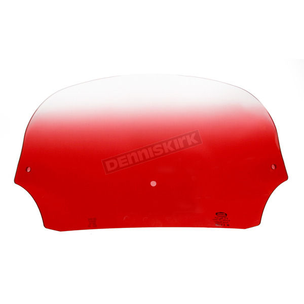 Memphis Shades 7 in. Gradient Ruby Batwing Windshield for Batwing Fairing - MEP8512