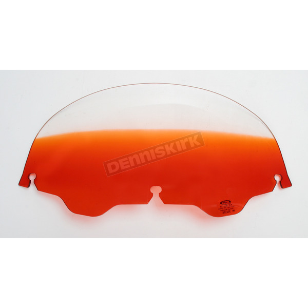 Memphis Shades 7 in. Replacement Gradient Burnt Orange Plastic for use with OEM Harley-Davidson Windshield Hardware - MEP8147