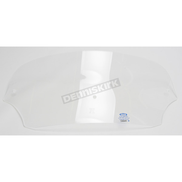 Memphis Shades 5 in. Clear Batwing Windshield for Batwing Fairing - MEP8500
