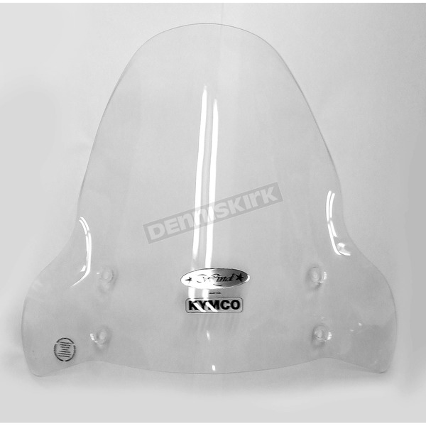 Cuppini 30 in. Clear Scooter Windshield - KWS4