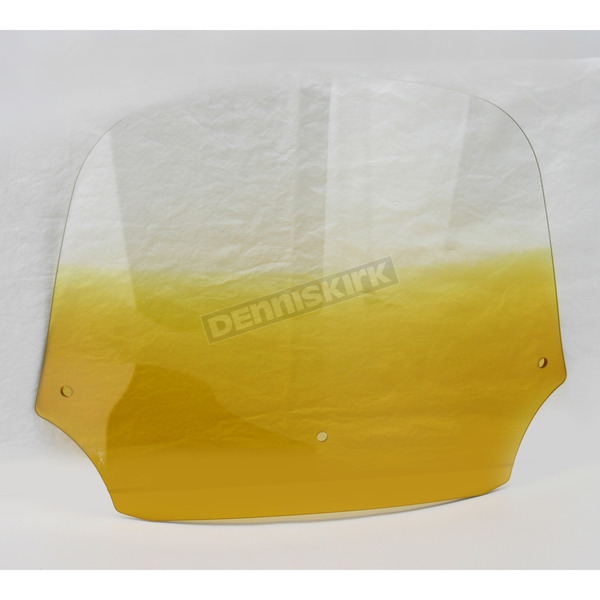 Memphis Shades 12 in. Gradient Yellow Batwing  Windshield for Batwing Fairing - MEP8535