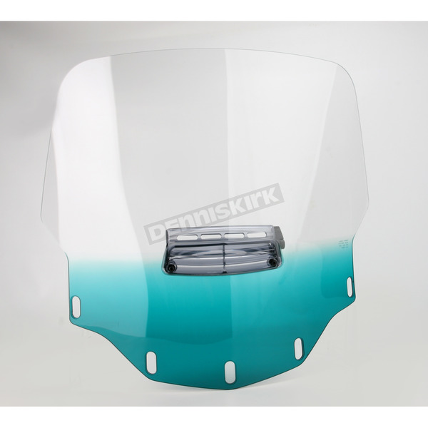 Memphis Shades Gradient Teal Vented Windshield - MEP4753