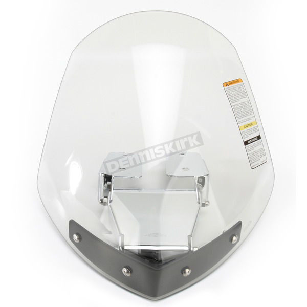 National Cycle Light Tint 14-1/2 in. Gladiator Windshield w/Chrome Mounts - N2712