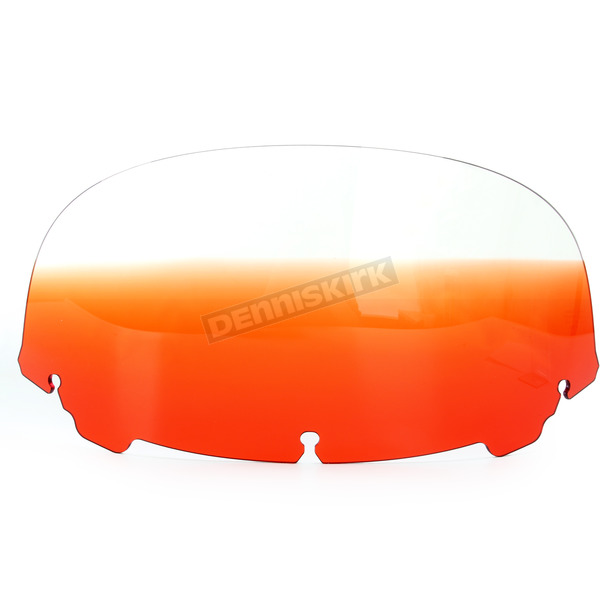 Memphis Shades Gradient Burnt Orange 9 in. Replacement Plastic for use with OEM Harley Davidson Windshield Hardware - MEP8177