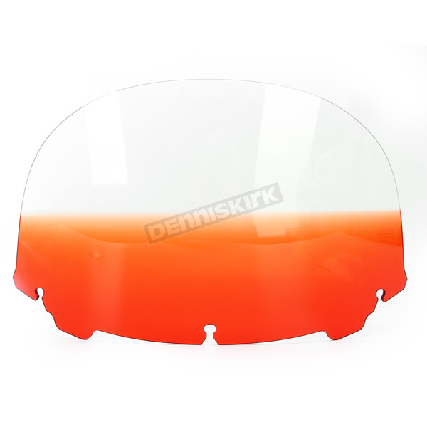 Memphis Shades Gradient Burnt Orange 12 in. Replacement Plastic for use with OEM Harley Davidson Windshield Hardware - MEP8187