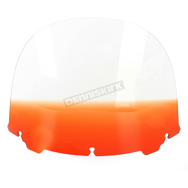 Memphis Shades Gradient Burnt Orange 15 in. Replacement Plastic for use with OEM Harley Davidson Windshield Hardware - MEP8197