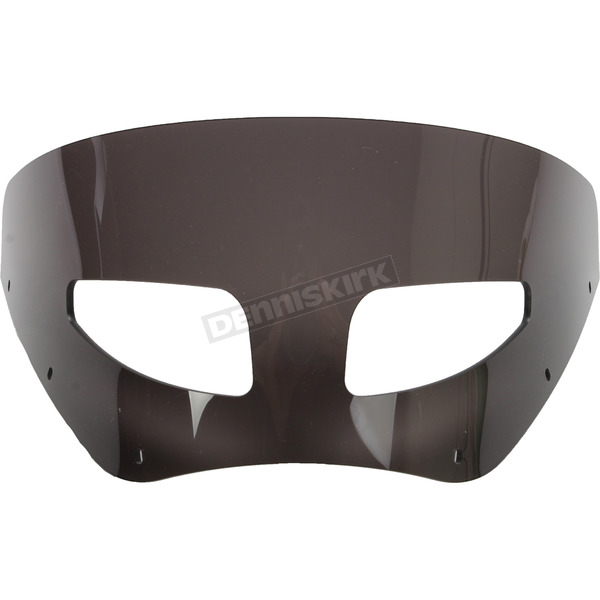Memphis Shades Road Warrior 7 in. Dark Black Smoke Vented Windshield - MEP87210