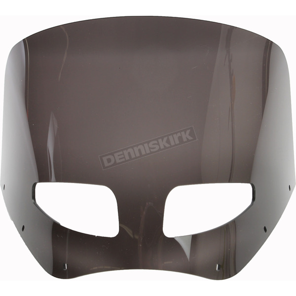 Memphis Shades Road Warrior 11 in. Dark Black Smoke Vented Windshield - MEP87410