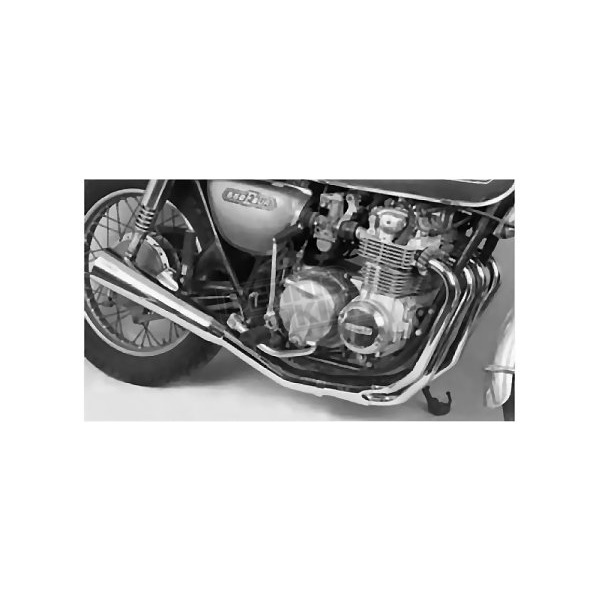 Mac 4-into-1 Chrome Megaphone Exhaust System - 001-0601