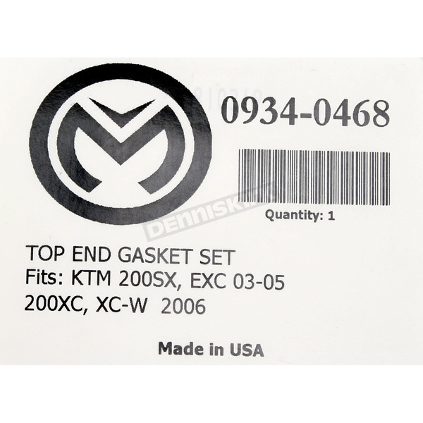 Moose Top End Gasket Set - 0934-0468