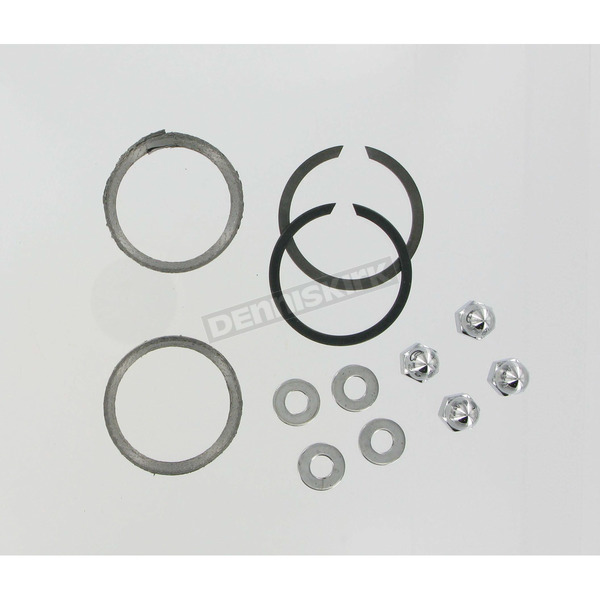 Genuine James Graphite Wire Exhaust Port Gaskets and Chrome Acorn Nuts - 65324-83-KWG1