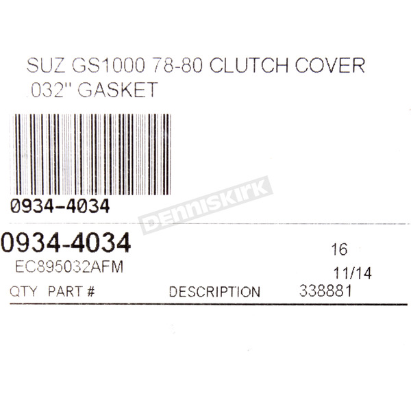 Cometic Clutch Cover Gasket - EC895032AFM