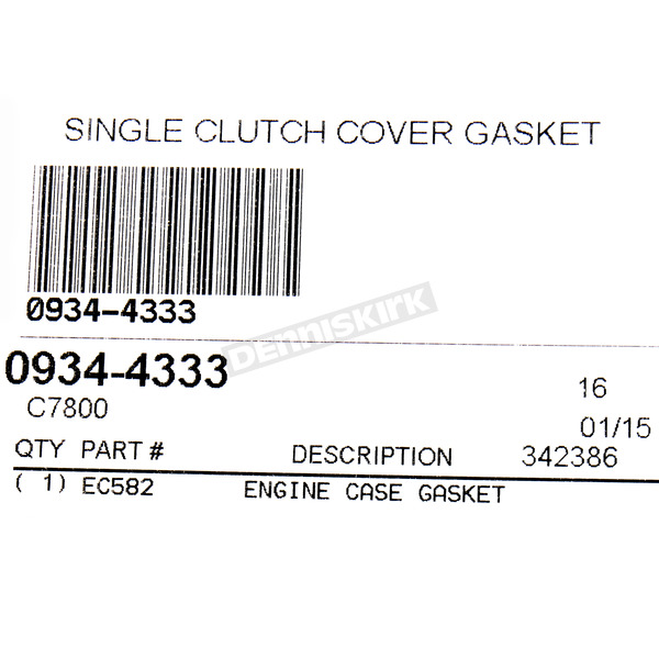 Cometic Clutch Cover Gasket - C7800