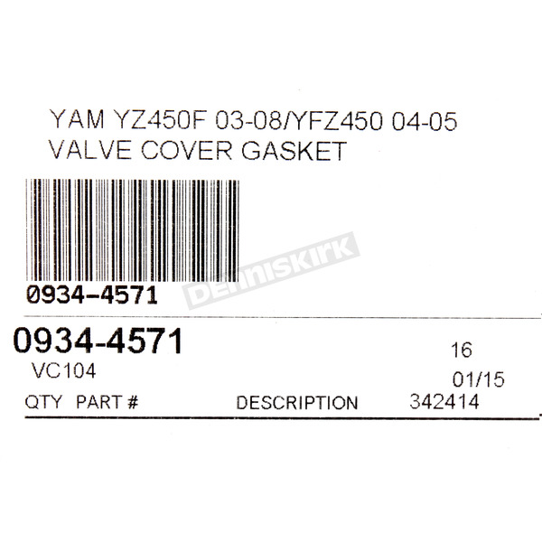 Cometic Valve Cover Gasket - VC104