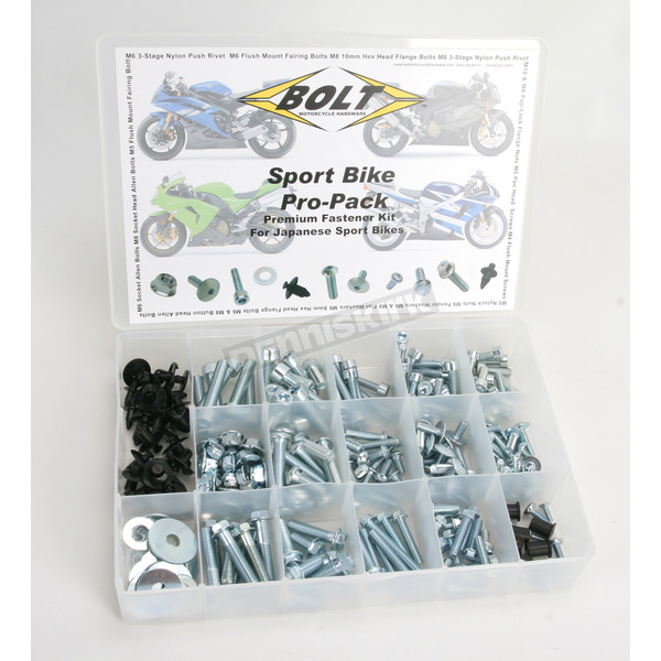 Bolt Motorcycle Hardware Sportbike Pro Pack for Late-Model Japanese Sportbikes - 2006-SBPP