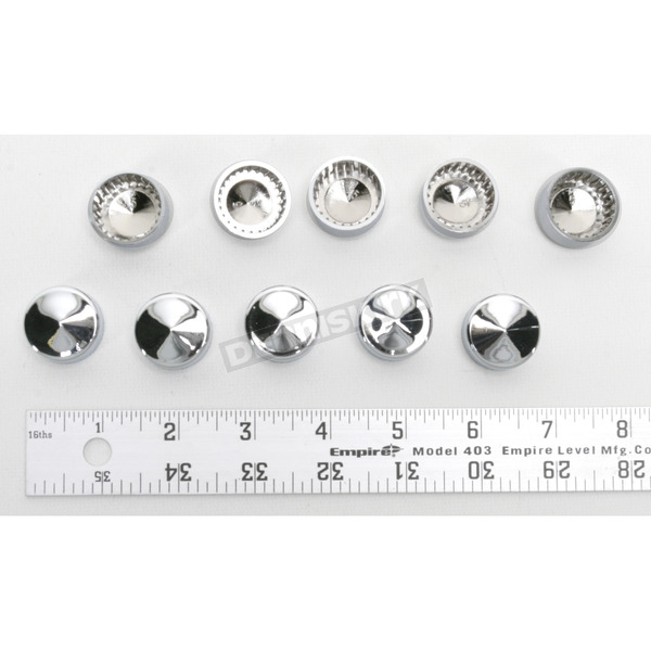 Drag Specialties Chrome 3/4 in. Hex Bolt /Nut Covers - 2402-0121