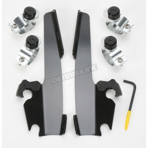 Memphis Shades Black Trigger-Lock Mount Kit for Batwing and Fat/Slim Fairing - MEB8967