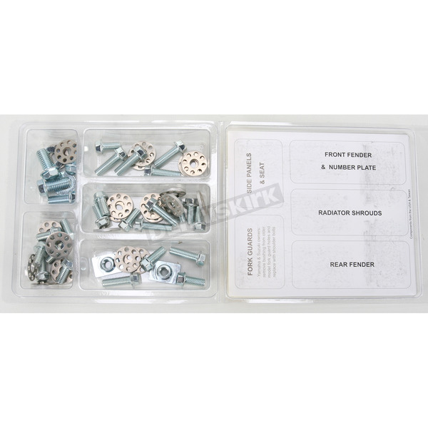 Bolt Motorcycle Hardware Works Plastics Fastener Kit - KAW0310124W