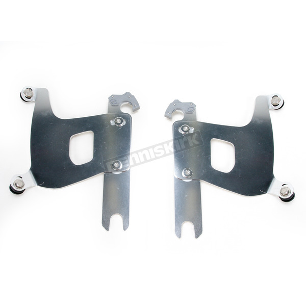 Memphis Shades Polished Trigger-Lock Mounting Hardware - Plates Only for Bullet Fairing FX - MEK1875
