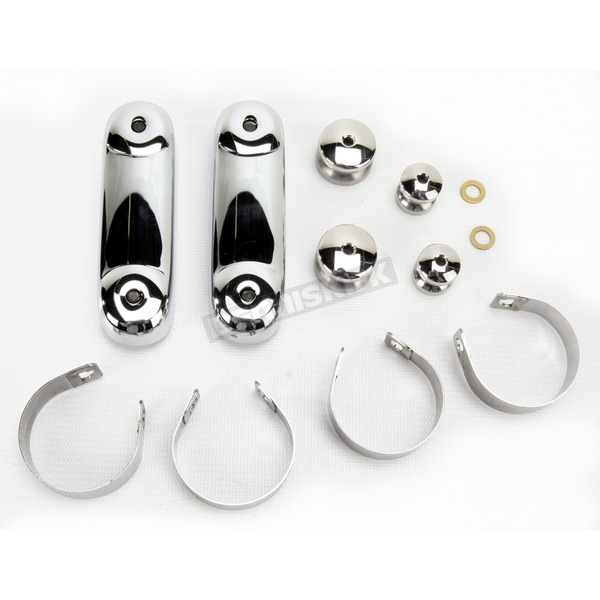 National Cycle Chrome 39mm Mounting Kit for Spartan/SwitchBlade Windshields - KIT-Q141