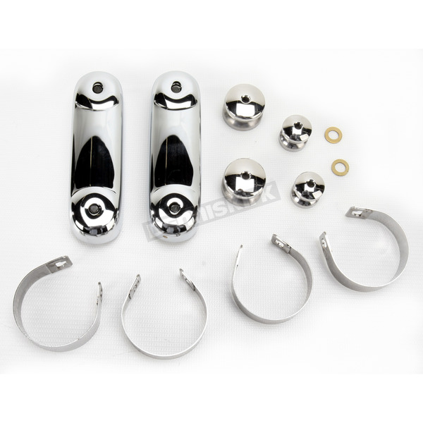 National Cycle Chrome 49mm Mounting Kit for Spartan/SwitchBlade Windshields - KIT-Q143