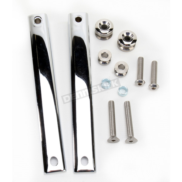 National Cycle Chrome 41mm Mounting Kit for Spartan/SwitchBlade Windshields - KIT-Q341