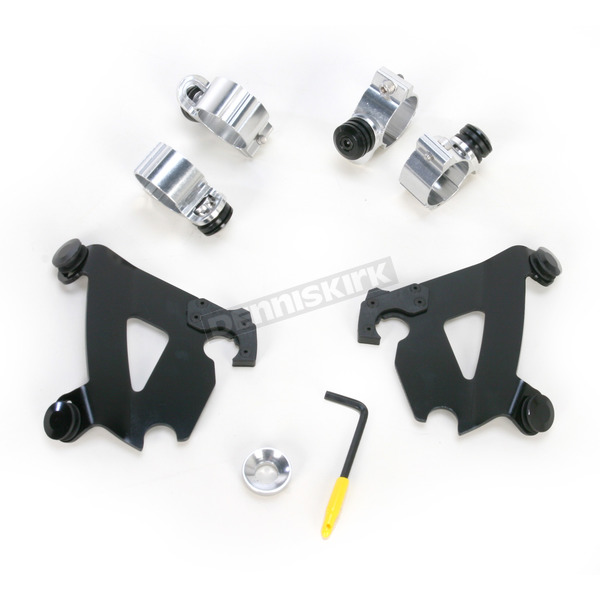Memphis Shades Black Trigger-Lock Hardware Kit for Cafe Fairing - MEB1995