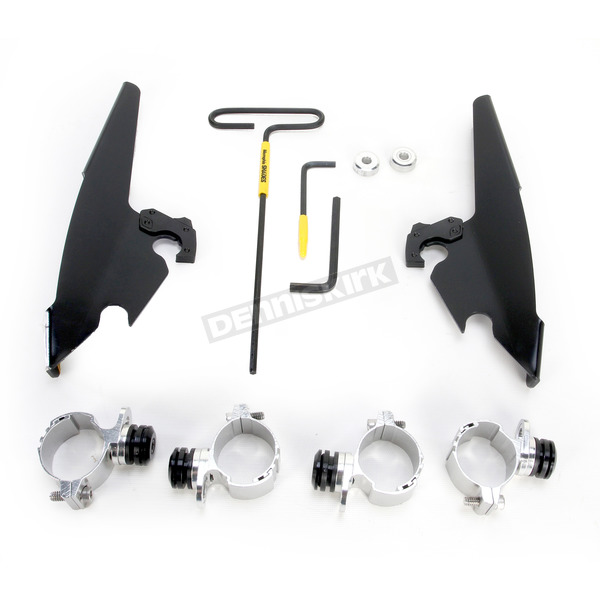 Memphis Shades Black No-Tool Trigger-Lock Hardware Kits for Batwing Fairing - MEB2008