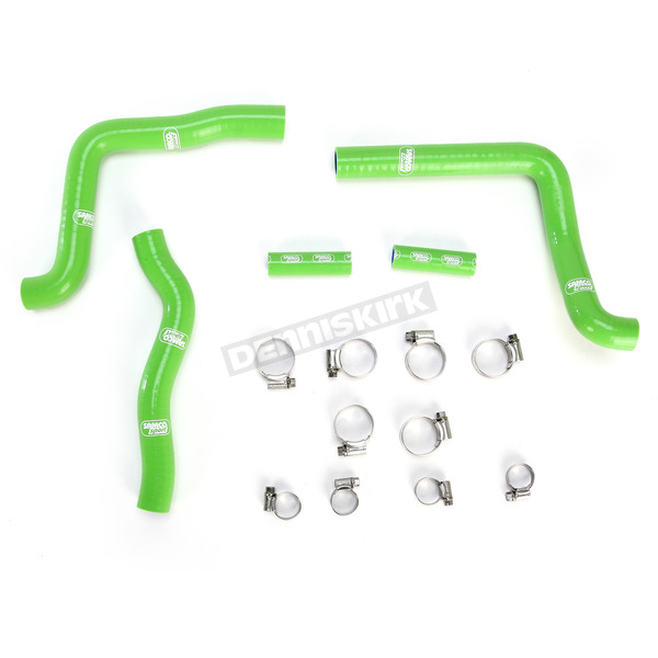 Moose Green Race Fit Radiator Hose Kit - 1902-0971