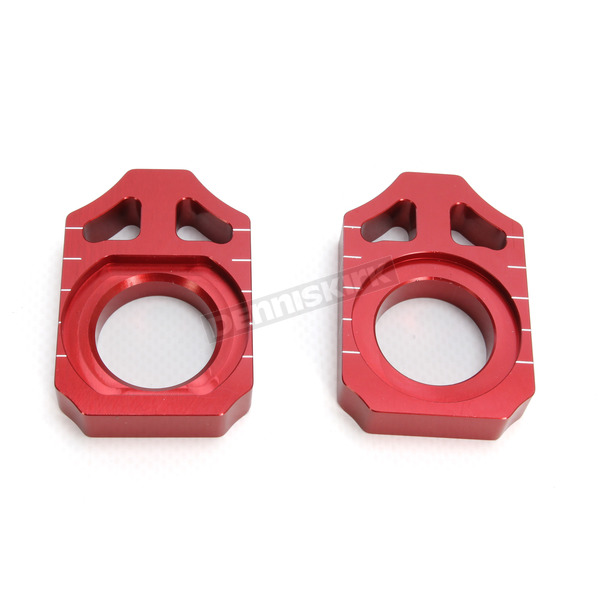 Works Connection Red Kawasaki Axle Block - 17-027
