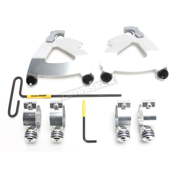 Memphis Shades Polished Trigger Lock Mount Kit for Road Warrior Fairing - MEK2029