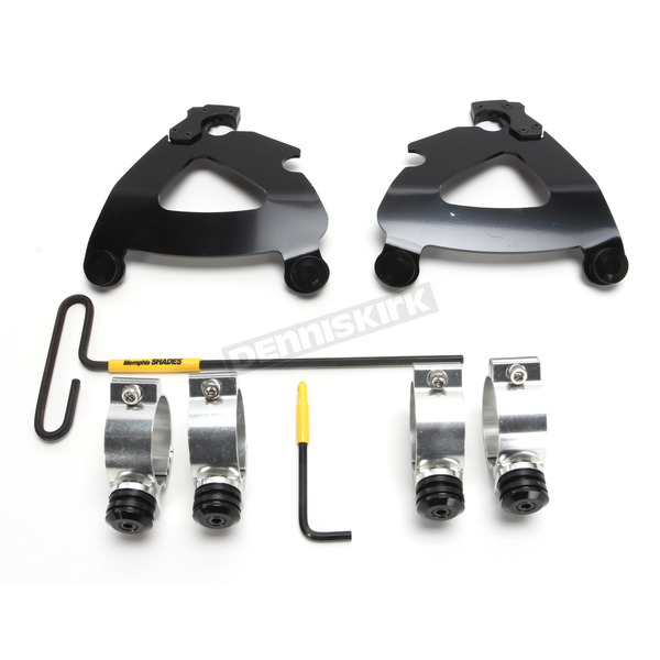 Memphis Shades Black Trigger Lock Mount Kit for Road Warrior Fairing - MEB2029
