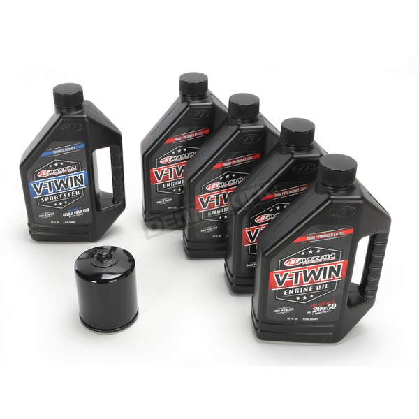 Maxima Complete Synthetic Oil Change Kit in a Box w/Black Filter - 90-119015B