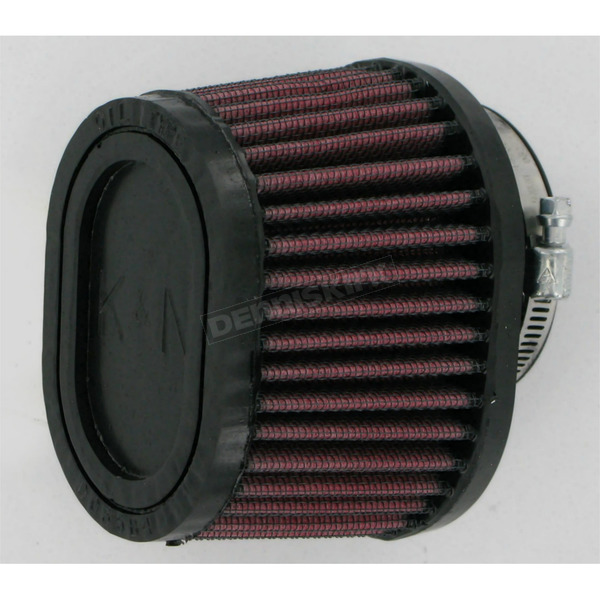 K & N Universal Tapered Oval Clamp-On Air Filter - 3 in. x 4 in. Diameter x 2 3/4 in. Long - RU-0981