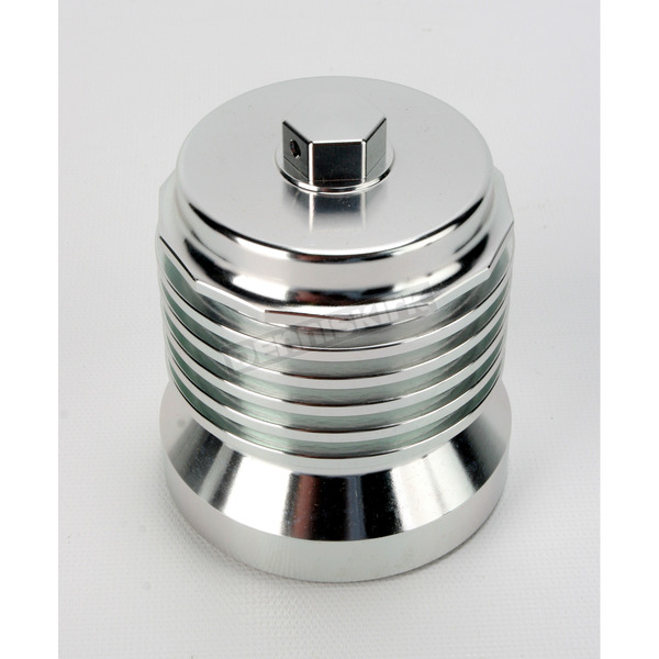 FLO Oil Filters Machined Aluminum FLO Stainless Steel Reusable Spin-On Oil Filter - PCS4C