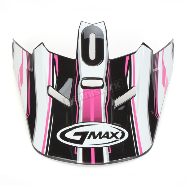 GMax Black/Pink/White Visor for GM46.2 Traxxion Medium to XXX-Large Helmet - 72-1190