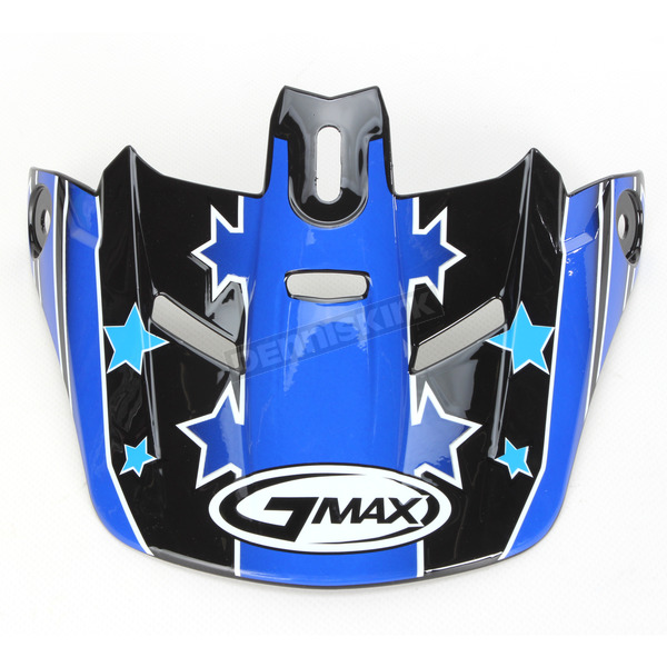GMax Black/Blue Visor for Youth GM46.2 Superstar Helmet - 72-3681