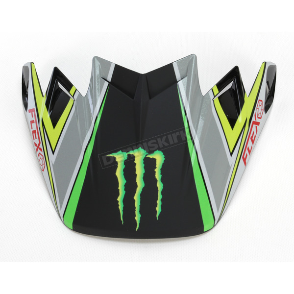 Bell Helmets Black/Green/White Monster Pro Circuit Replica Moto-9 Carbon Flex Visor - 7071247