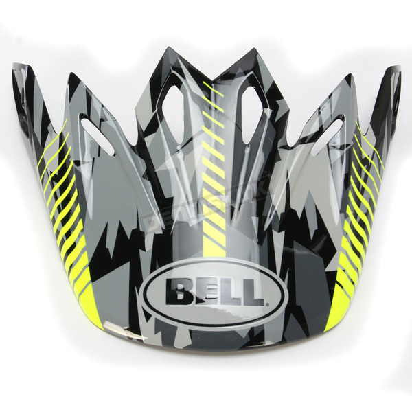 Bell Helmets Black/Grey/Yellow Camo Visor for the Moto-9 Helmet - 7071333