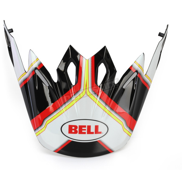Bell Helmets Black/White/Red/Hi-Vis Pace Visor for the Moto-9 Helmet - 7071334