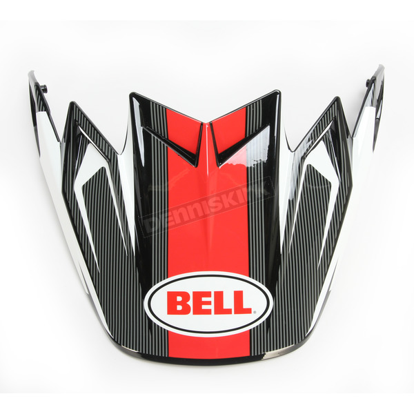 Bell Helmets Black/Red/White Visor for Moto-9 Flex Vice Helmet - 7081532