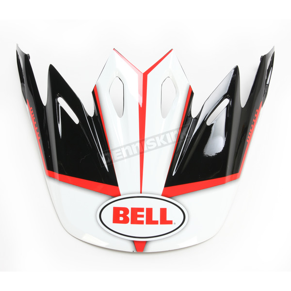 Bell Helmets Black/White/Red Visor for Moto-9 Spark Helmets - 7081534