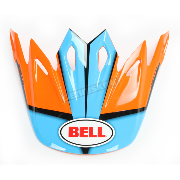 Bell Helmets Orange/Blue/Black Visor for Moto-9 Spark Helmets - 7081535
