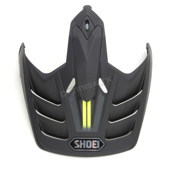 Shoei Helmets Matte Black/Gray/Hi-Viz Yellow Visor for Hornet X2 Navigate Helmets - 0224-6012-03