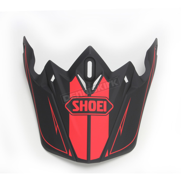 Shoei Helmets Matte Black/Red Visor for VFX-W Hectic Helmet - 0245-6092-01