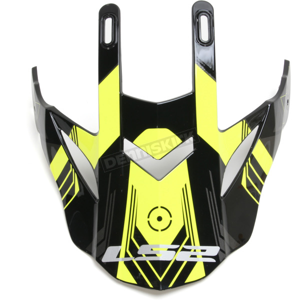 LS2 Black/Hi-Vis Yellow Visor for Pioneer Trigger Helmets - 02-925