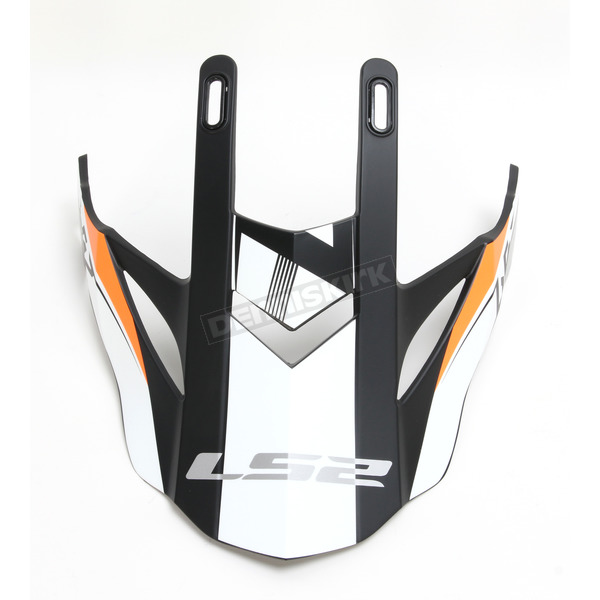 LS2 Orange/Black/White for Fast Race Helmets - 02-931