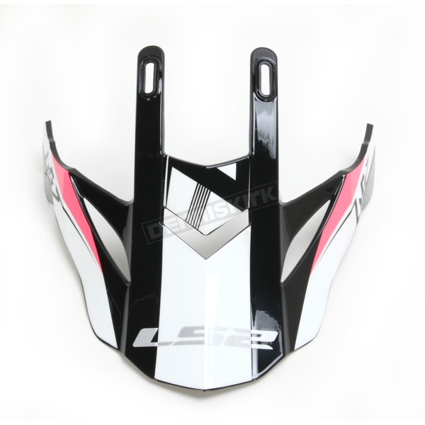 LS2 Pink/Black/White Visor for Fast Race Helmets - 02-932