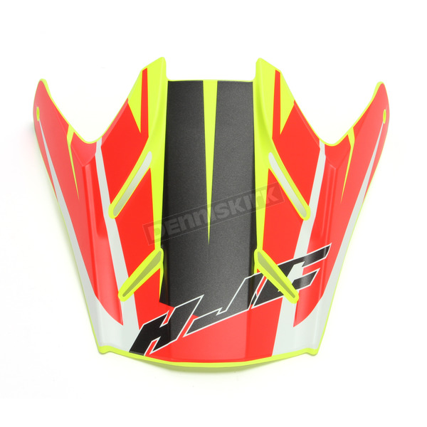 HJC Hi-Viz Semi-Flat Yellow/Red Visor for HJC FG-MX Axis MC-3HSF Helmets - 360-739