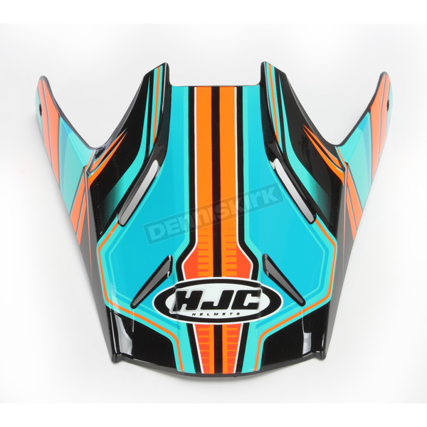 HJC Blue/Orange Visor for HJC FG-MX Piston MC-4 Helmets - 362-949
